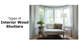 Types of Interior Wood Shutters