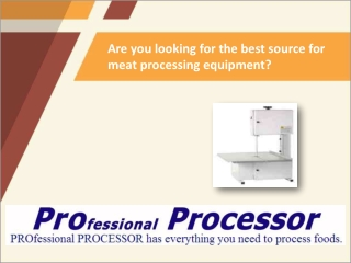 High Quality Meat Processing Equipment Online