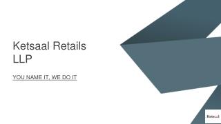 Ketsaal retails LLP amazon seller support