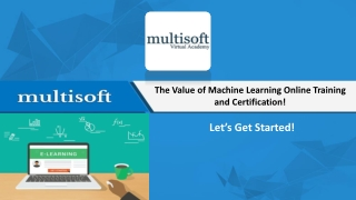 Best Machine Learning Course - Multisoft Virtual Academy