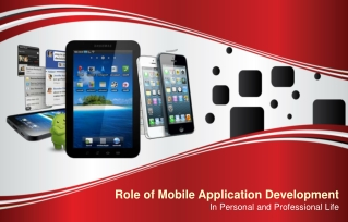 Role of Mobile Application Development in Personal and Profe