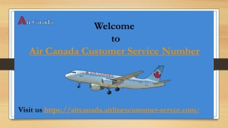 Air Canada Customer Service Phone Number 1-866-806-7036