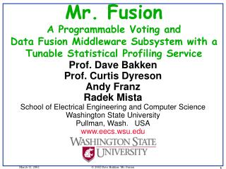 Mr. Fusion A Programmable Voting and Data Fusion Middleware Subsystem with a Tunable Statistical Profiling Service