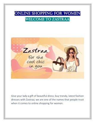 Get Online Shopping for Women | Zastraa