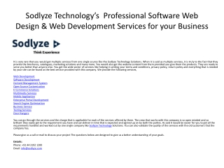 Professional Web Design Services for your Business