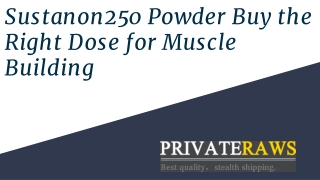 Sustanon250 Powder – Buy the Right Dose for Muscle Building