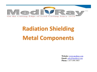 Medi-Ray Radiation Shielding | Metal Components