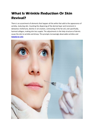 Unwanted Wrinkle Reduction
