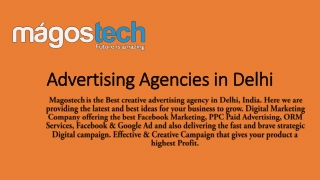 What are the Benefits of Advertising Agencies | Advertising Agencies in Delhi