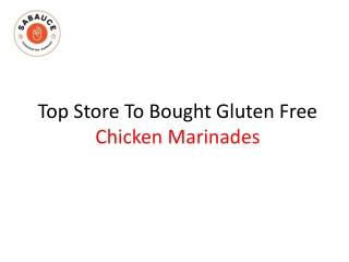 Top Store To Bought Gluten-Free Chicken Marinades