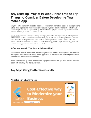 Things to Consider Before Developing Your Mobile App