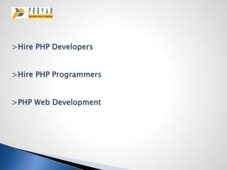 Hire A PHP Developer, PHP Web Developer
