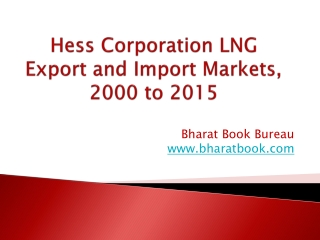 Hess Corporation LNG Export and Import Markets, 2000 to 2015