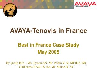 AVAYA-Tenovis in France