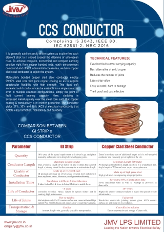 Copper clad steel conductor as a cost effective solution