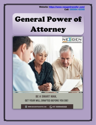 General Power of Attorney - Make a Will Online
