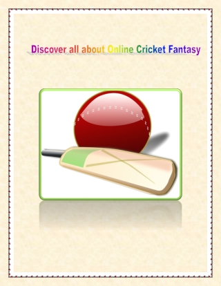 Discover All About Online Cricket Fantasy