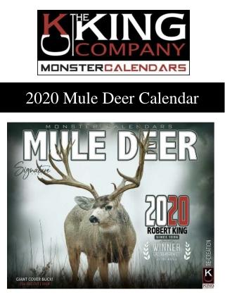 2020 Mule Deer Calendar
