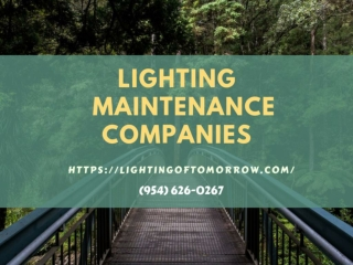 Lighting Maintenance Companies