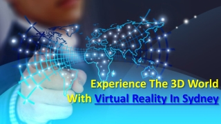 Best Experience Of Virtual Reality In Sydney