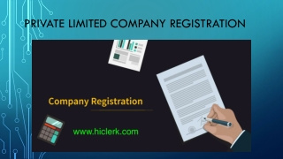 private limited company registration - Clerk India