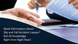 Slip and Fall Accident Lawyer   Personal Injury Lawyer
