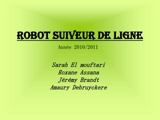 Robot suiveur de ligne