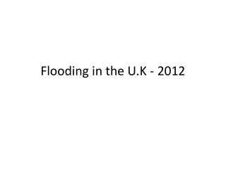 UK Flooding Intro