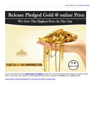 Gold buyer in kalka ji