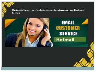 De juiste bron voor technische ondersteuning van Hotmail kiezen