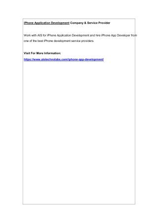 iPhone Application Development Company & Service Provider