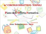 21  CIRCOLO DIDATTICO - NAPOLI