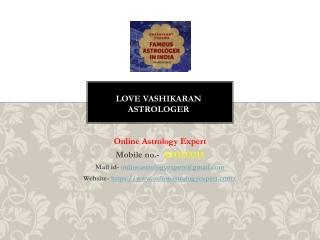 Love Vashikaran Astrologer