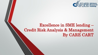Excellence in SME lending