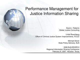 Performance Management for Justice Information Sharing