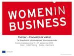Kvinder   Innovation  V kst -et Skandinavisk udviklingsprojekt for erhvervskvinder