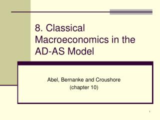 8. Classical Macroeconomics in the AD-AS Model