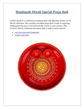 Handmade Diwali Special Pooja thali