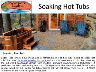 Japanese Soaking Hot Tubs