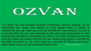 Caravan Accessories & Caravan Awnings In Australia