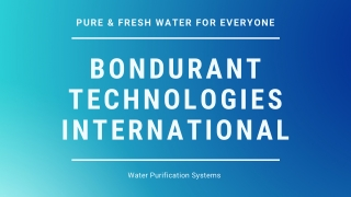 Intelligent Water Purification Systems | CARIPUR H2O – Fresh Water