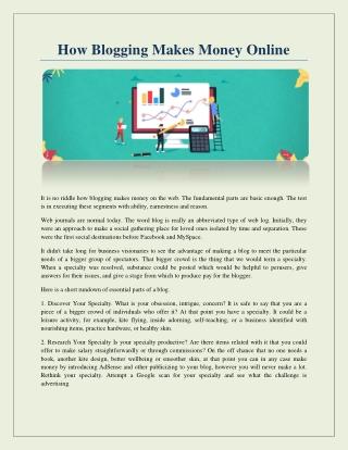 how to blog make money