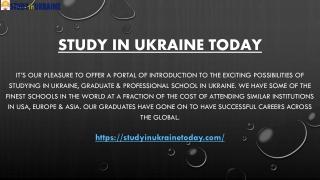 Study In Ukraine Today