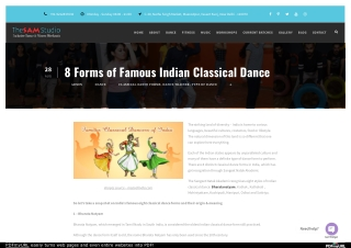 8 Forms of Famous Indian Classical Dance
