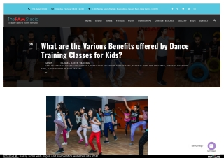 What are the Various Benefits offered by Dance Training Classes for Kids?