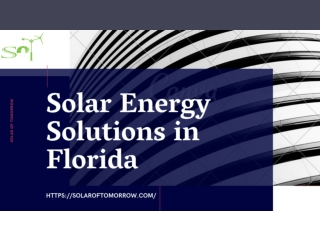 Solar Energy Solutions in Florida