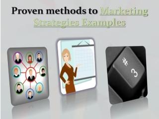Marketing Strategies Examples