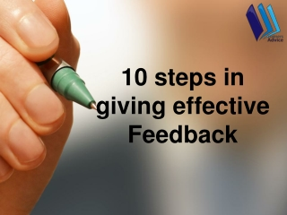 10 steps in giving effective Feedback