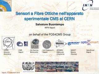 Sensori a Fibre Ottiche nell'apparato sperimentale CMS al CERN