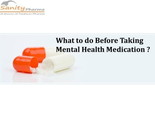 Know about the Mental Health Medication